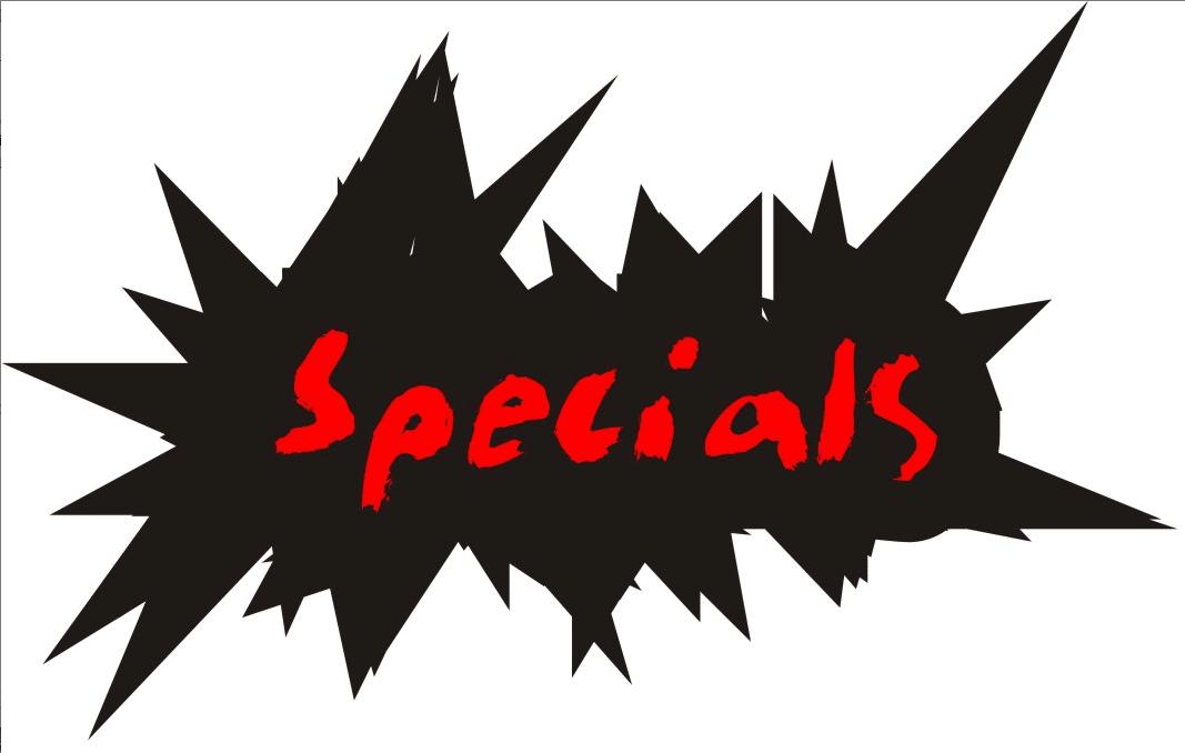 20% off all Specials through 12/5